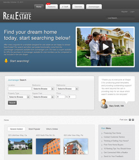 free joomla real estate template15