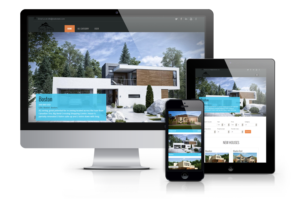 15 free joomla real estate templates demplates for Joomla empty template