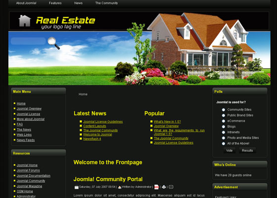 free joomla real estate template3