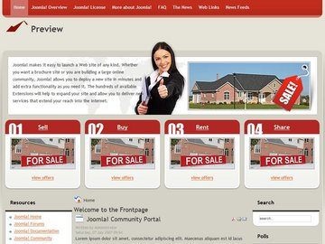 free joomla real estate template5