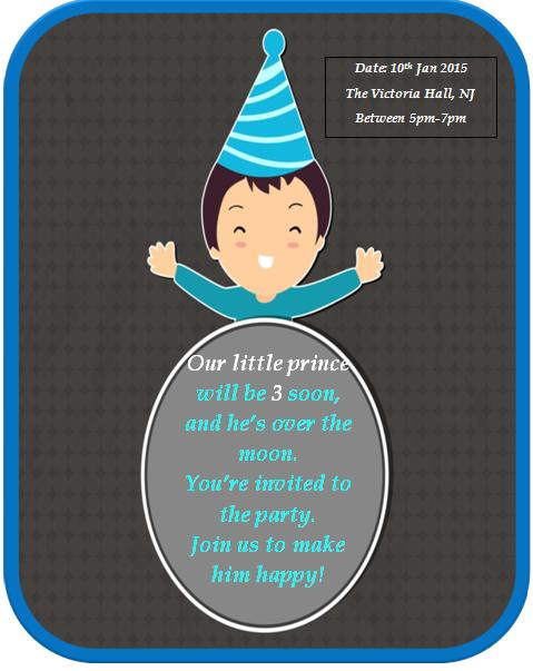 3rd Birthday Invitation Wording Demplates