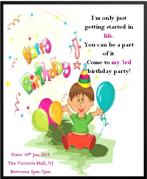 3rd Birthday Invitation Templates- 10