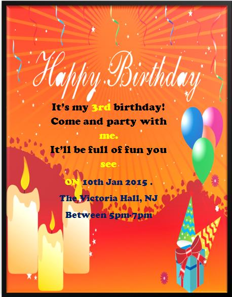 3rd Birthday Invitation Templates- 4