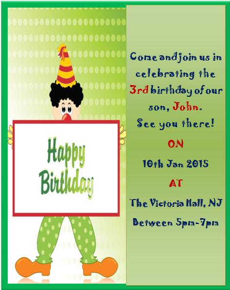 3rd Birthday Invitation Templates- 5