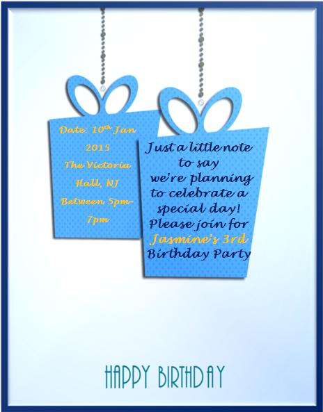 3rd Birthday Invitation Templates- 7