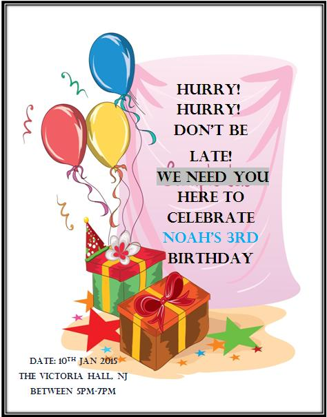 3rd Birthday Invitation Templates- 8