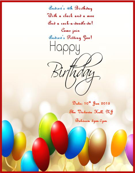 4th Birthday Invitation Templates- 2