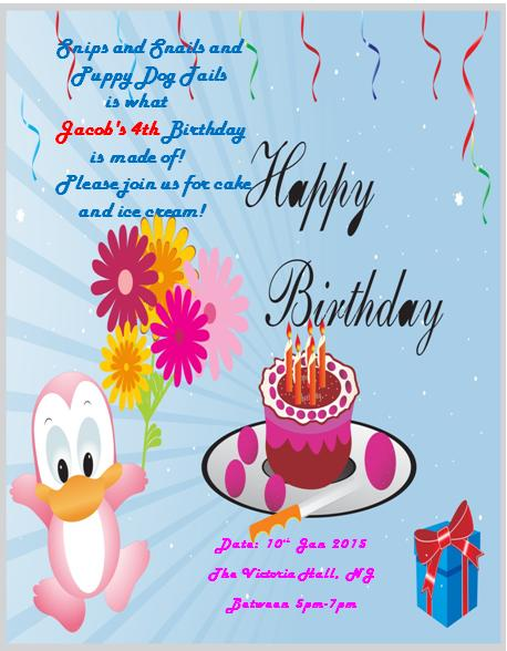 4th Birthday Invitation Templates- 3