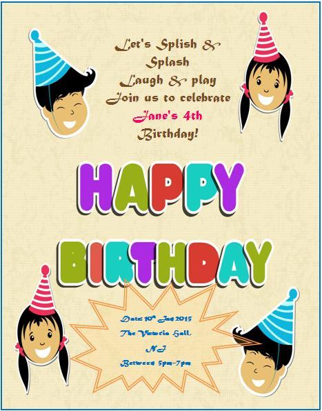 4th Birthday Invitation Templates- 4