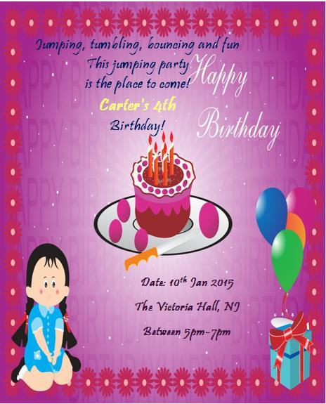 4th Birthday Invitation Templates- 5