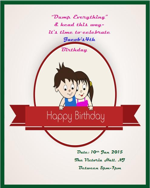 4th Birthday Invitation Templates- 10