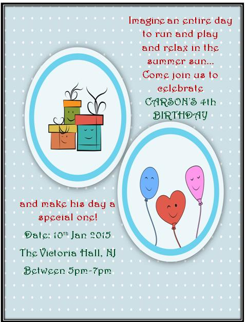 4th Birthday Invitation Templates- 7
