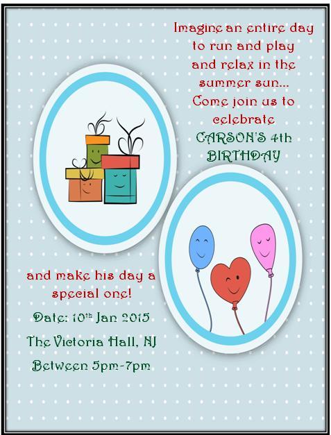 4th Birthday Invitation Templates- 7