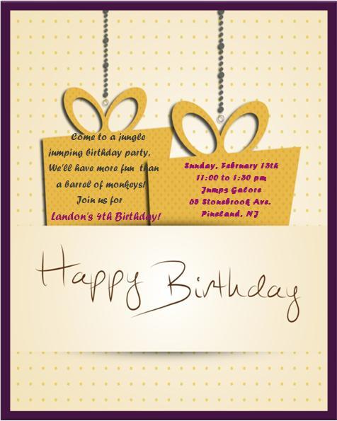 4th Birthday Invitation Templates- 8