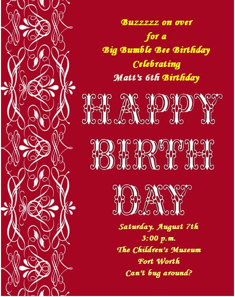 4th Birthday Invitation Templates- 9-