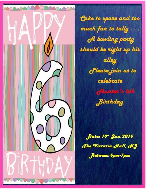 6th Birthday Invitation Templates- 1