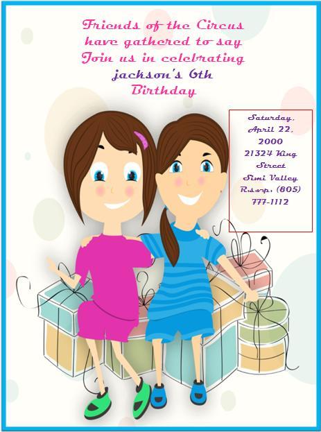 6th Birthday Invitation Templates- 2