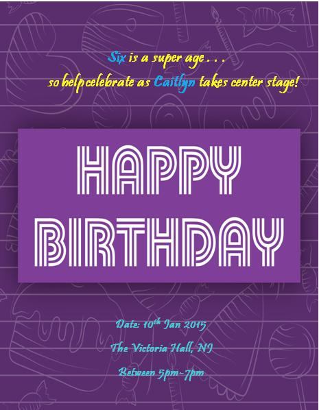 6th Birthday Invitation Templates- 3