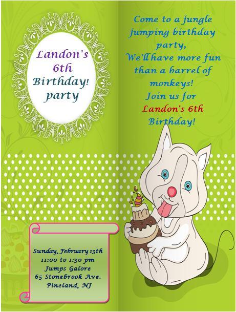6th Birthday Invitation Templates- 4