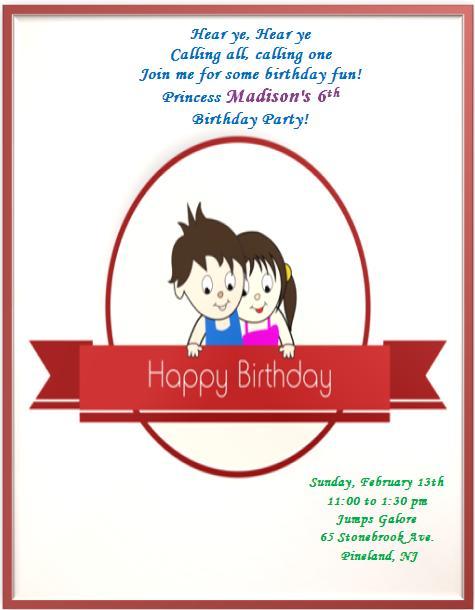6th Birthday Invitation Templates- 5