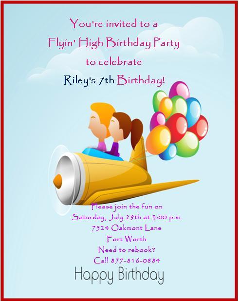 7th Birthday Invitation Templates- 1