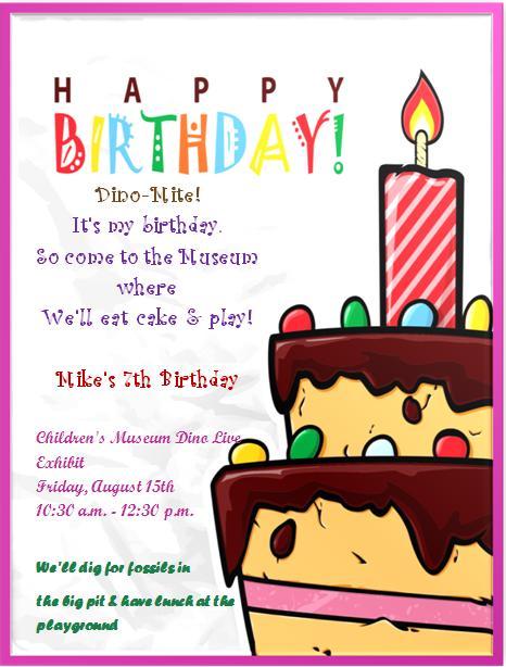7th Birthday Invitation Templates- 5