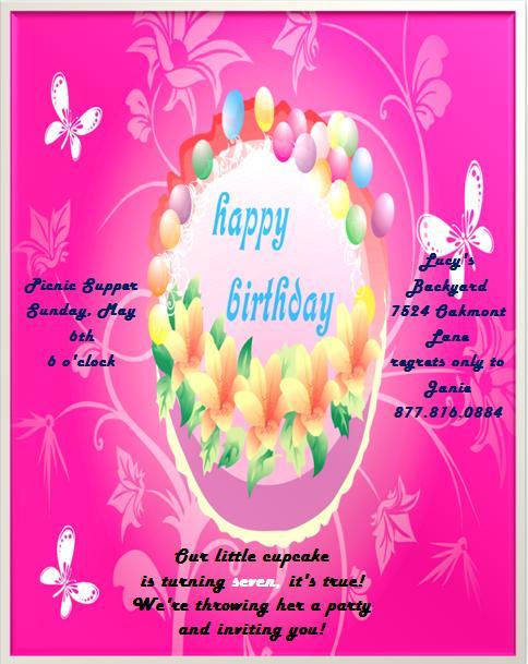 7th Birthday Invitation Templates- 9