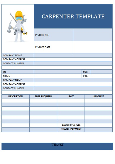 25 Professional Carpenter Invoice Templates - Demplates
