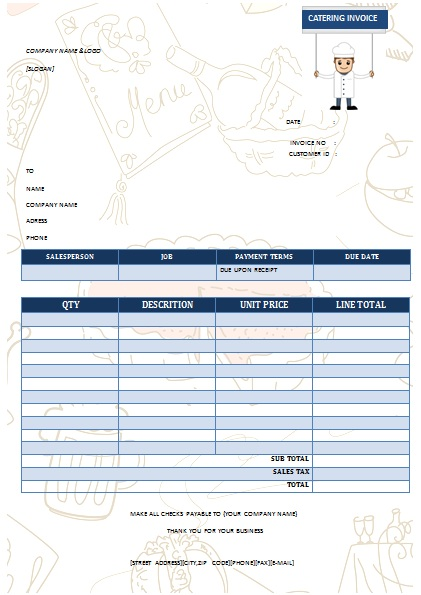 CATERING INVOICE 10