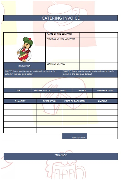 CATERING INVOICE 8