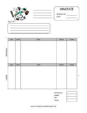 14 free plumbing invoice templates - demplates, Simple invoice