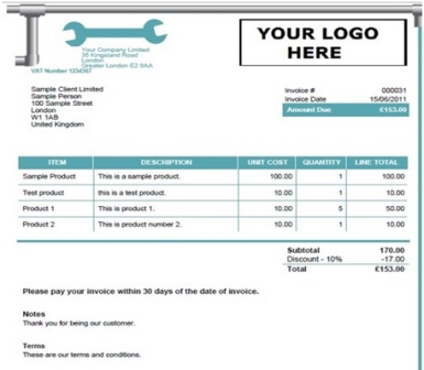 14 free plumbing invoice templates demplates for Plumbing cost estimator free