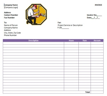 free plumbing invoice template 9