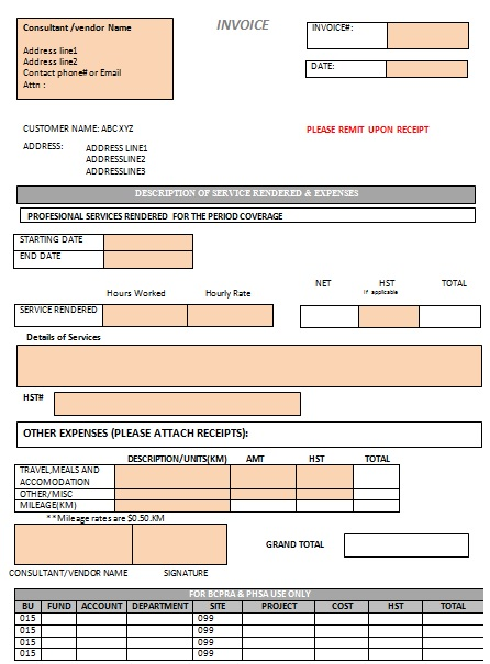 office cleaning invoice template