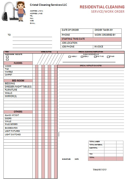 download invoice template for janitorial services With janitorial invoice template