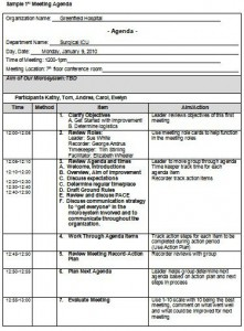department meeting agenda template