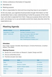 franklin covey meeting agenda template