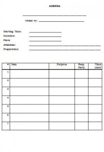 free blank meeting agenda template doc