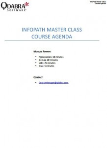 infopath meeting agenda template