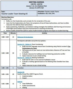 plc meeting agenda template for teachers