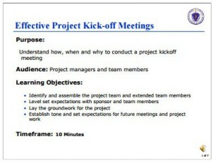 pm kick off meeting agenda template
