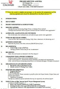 pre bid meeting agenda template