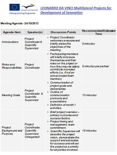 kickoff meeting agenda template
