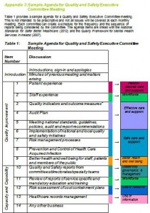 quality improvement meeting agenda template