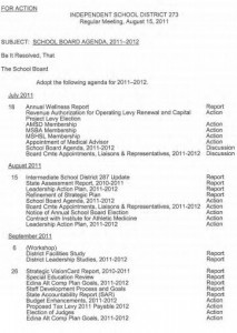 school board meeting agenda template