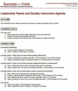 school team meeting agenda template