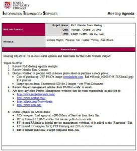 weekly managers meeting agenda template