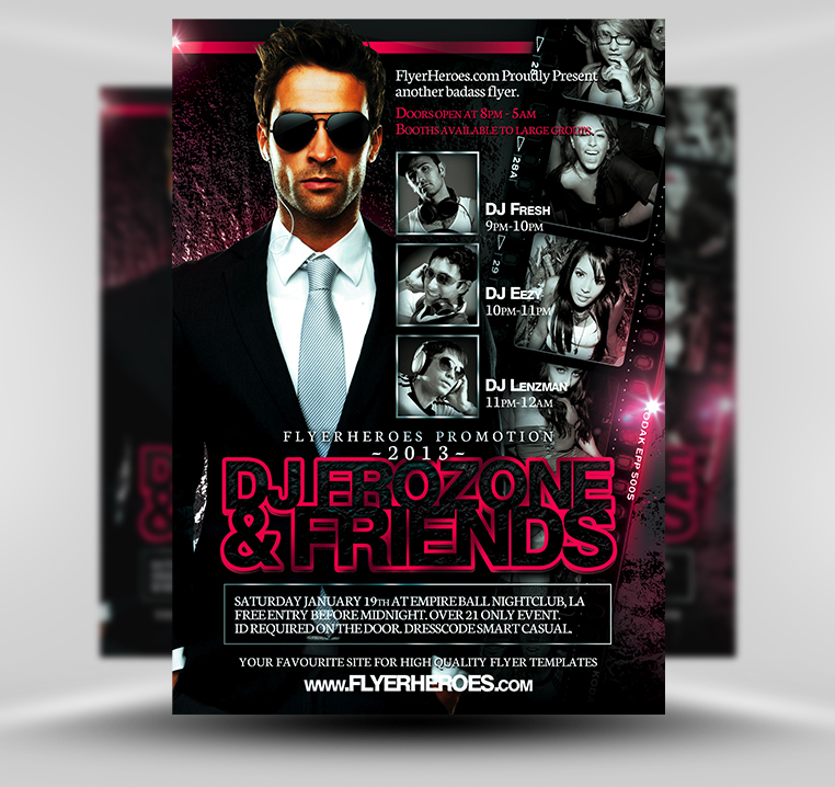 32 spectacular free dj flyer templates psd doc demplates. Black Bedroom Furniture Sets. Home Design Ideas
