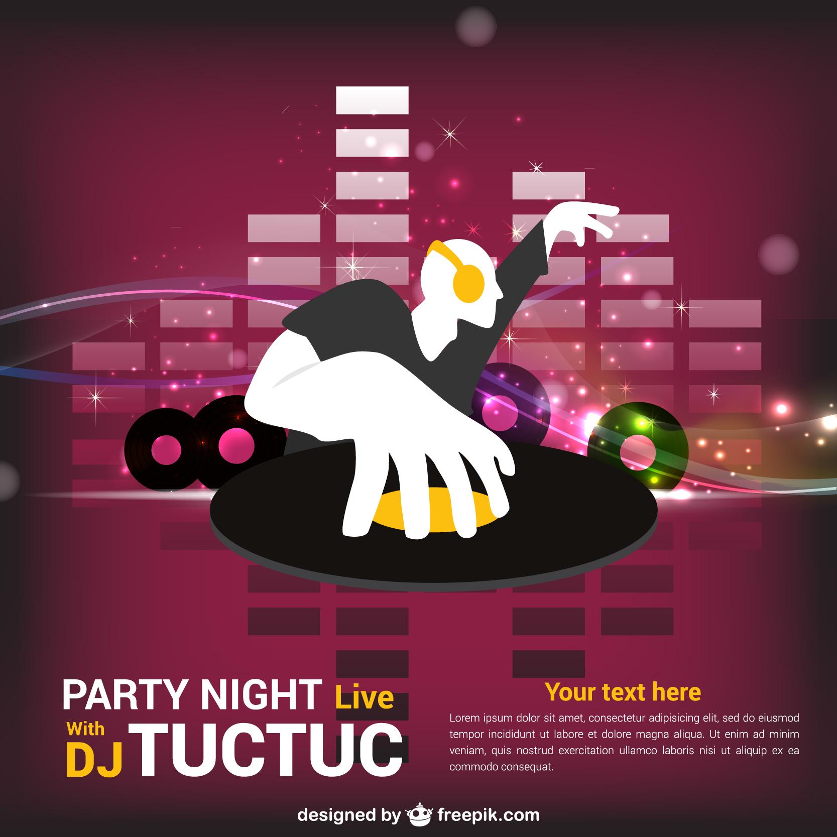32 Spectacular Free DJ Flyer Templates : PSD, DOC - Demplates