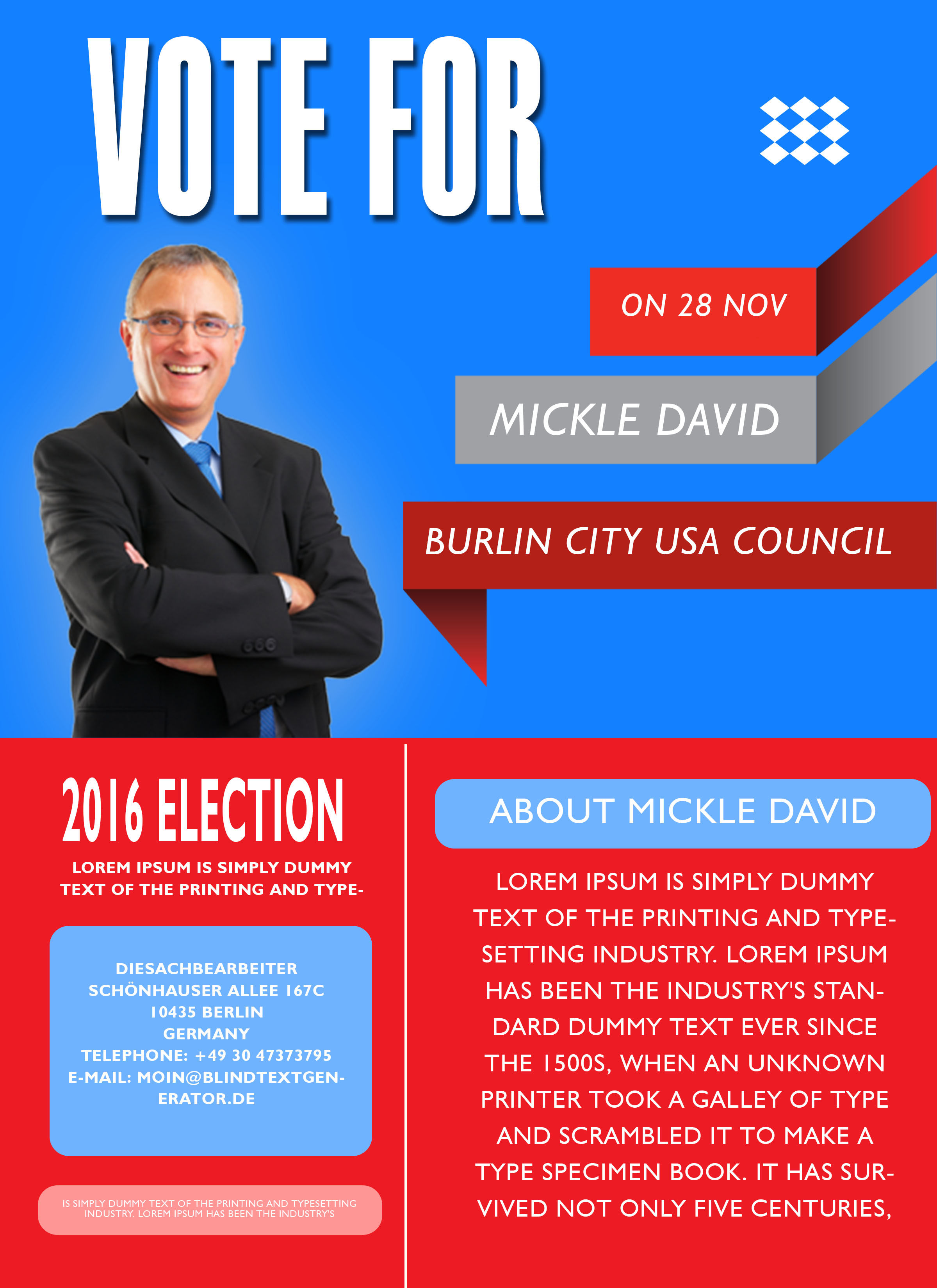 Campaign with these elegant free political campaign flyer for Political brochure templates